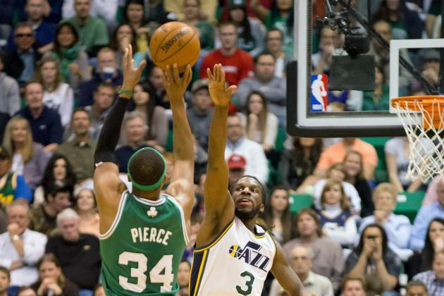 Paul Pierce and Celtics Outlast Jazz, 110-107, in Overtime
