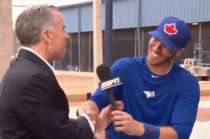 J.P. Arencibia Reprised His Tim Kurkjian Impersonation