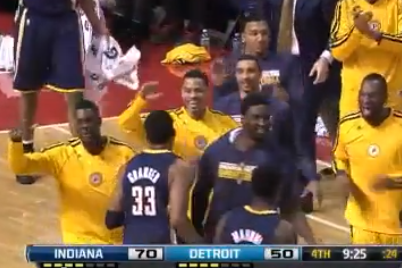 Danny Granger Makes a Shot, His Teammates Go Nuts