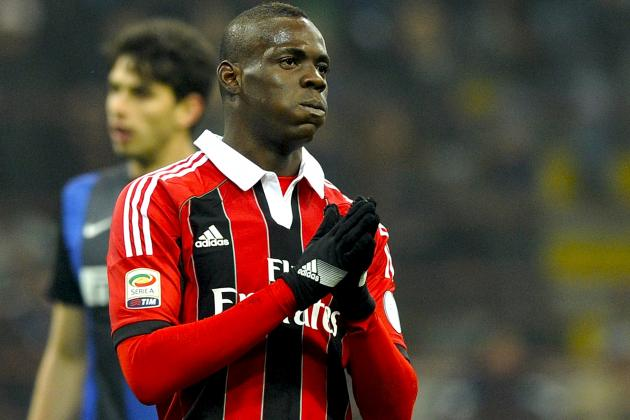 Mario Balotelli Fined for Making Insulting Gesture Toward Inter Fans