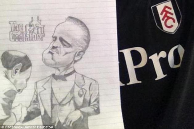 Berbatov Proves He Paints a Pretty Picture Both on and off the Pitch