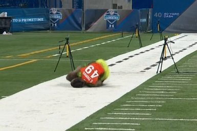 Shamarko Thomas Eats It, Still Runs 4.38 40