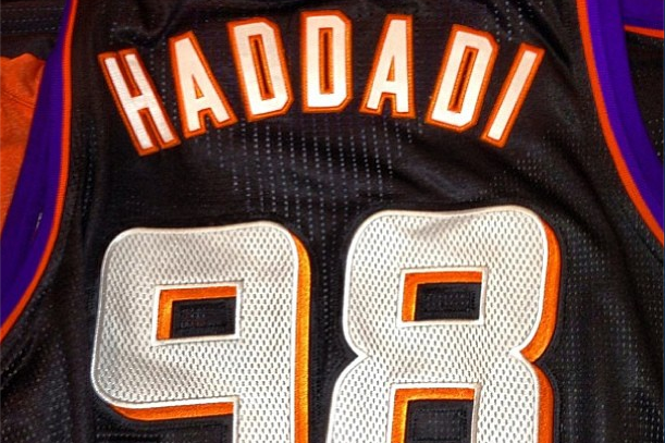 Haddadi's Suns Jersey Represents Iran's Telephone Country Code