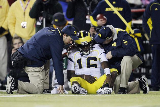 Should Elbow Nerve Injury Have Kept Denard Robinson out Longer?