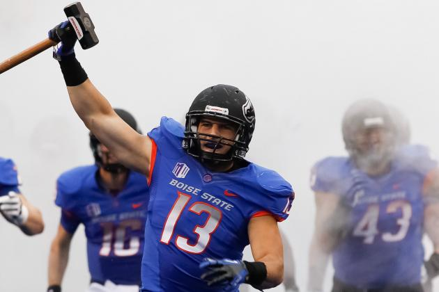Mountain West Writes NCAA to Defend Boise State's All-Blue Uniforms
