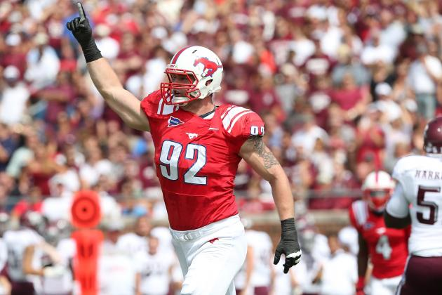 Margus Hunt Combine: Insane Athleticism Will Allow SMU DE to Climb Draft Boards