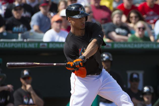 Giancarlo Stanton Hits 1st Homer of Spring Training