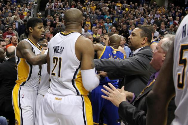 Tussle Involving Hibbert and Curry Ignites Pacers to Win