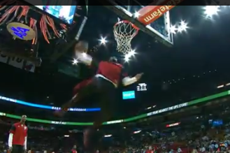 VIDEO: LeBron Shows Off with Another Spectacular Pregame Dunk