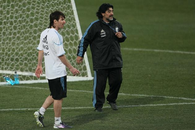 Maradona Claims Messi Is a 'Great' but Not as Good as El Diego