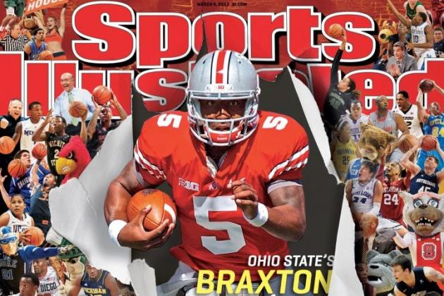 SI Cover Shows Even at College Hoops' Key Time, Football Is Still King