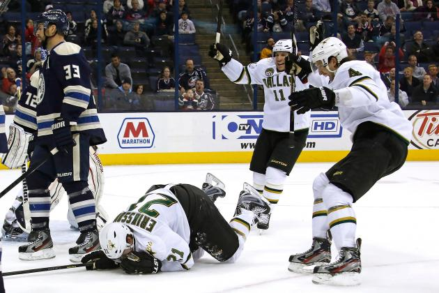 Loui Eriksson, Dallas Stars Sneak out Gritty Win over Columbus