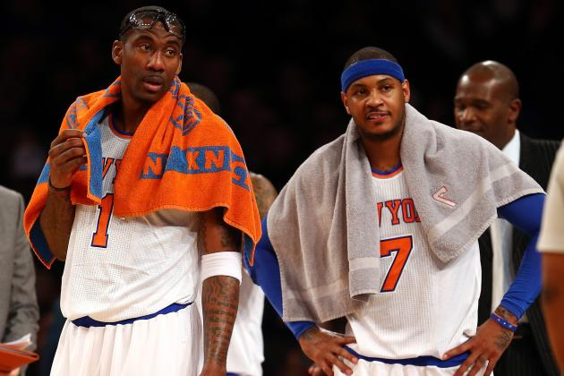 Anthony Praises Amar'e for Accepting Reduced Role Off Knicks Bench
