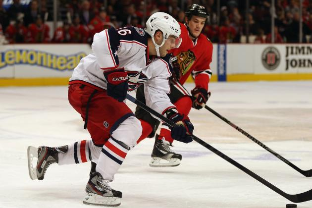 Blue Jackets' Brassard Leaves Game with Upper-Body Injury