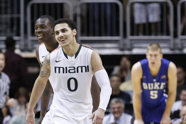 Miami Hurricanes Basketball: Miami Duke Match Up for Potential No. 1 Seed