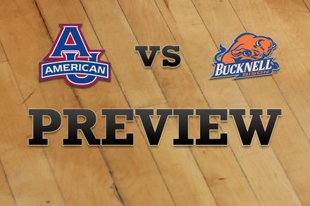 American University vs. Bucknell: Full Game Preview