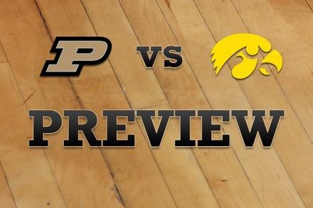 Purdue vs. Iowa: Full Game Preview