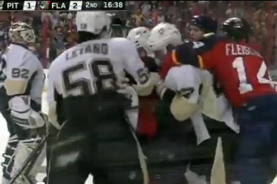 Video: Kopecky, Vokoun Brawl After Goal