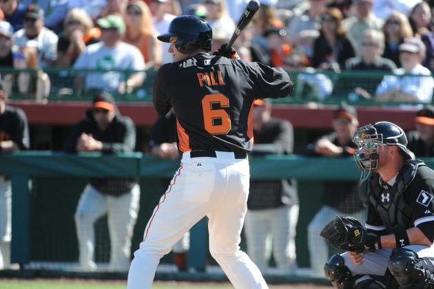SF Giants' Brett Pill Fights for Spot