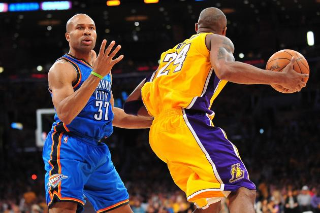 Kobe Not Thrilled with Derek Fisher's Return to Thunder