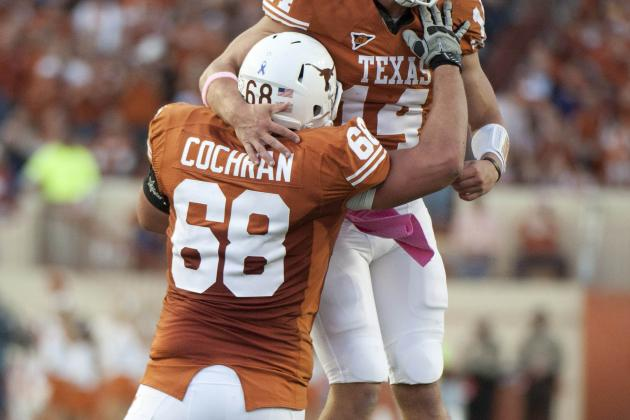 Texas OL Josh Cochran Suffers Fractured Left Leg