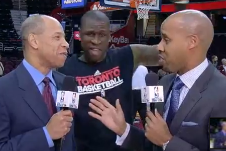 Mickael Pietrus Interrupts NBA TV Segment with Dancing Routine