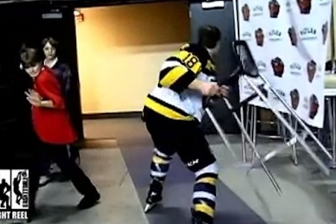 Funny Hockey Freakout Video