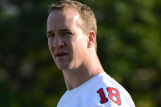 Broncos Quarterback Peyton Manning Visits Troops Overseas as Part of USO Tour