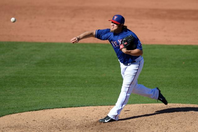 Burns Stepping Forward in Rangers' Bullpen