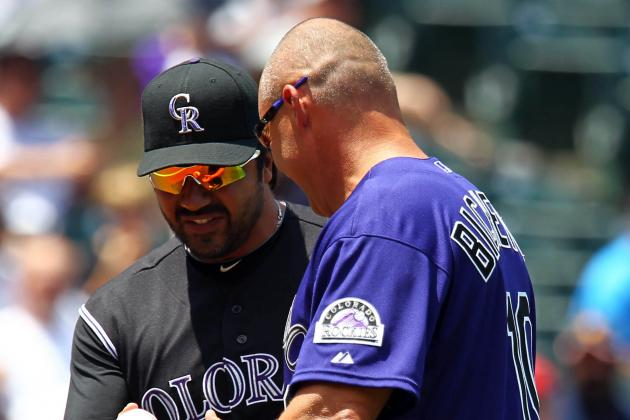 Dante Bichette, Rockies' New Hitting Coach, Also Acts as Psychologist