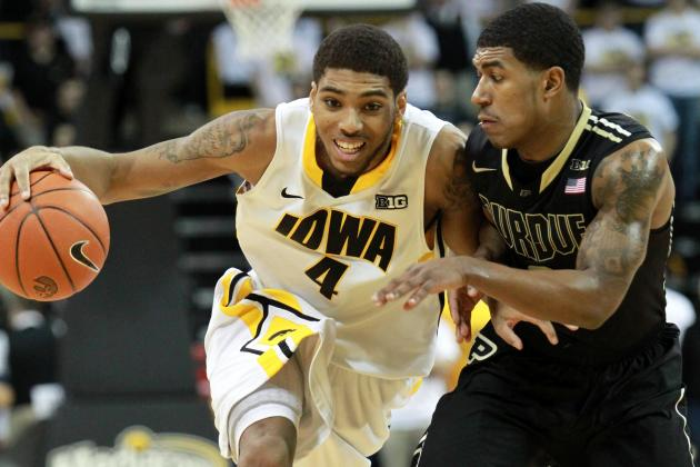 Frigid Boilermakers Fall at Iowa, 58-48