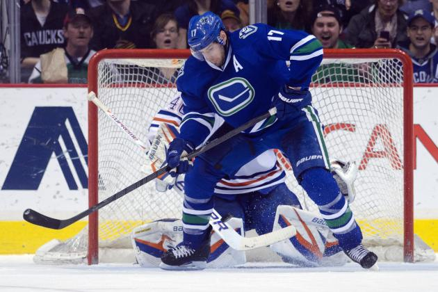 Canucks Star Ryan Kesler Out Indefinitely with Broken Foot