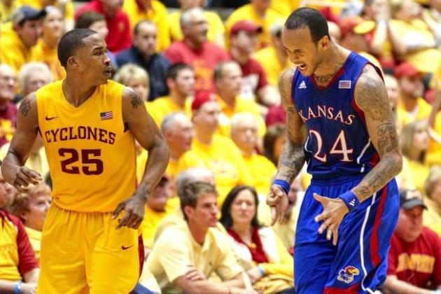 Kansas University Coach Bill Self, Senior Guard Elijah Johnson Accept...