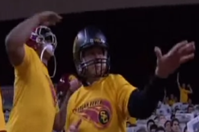 USC AD Pat Haden shows off a rare item in USC's Harlem Shake video (VIDEO)