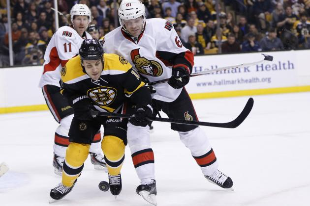Bergeron's OT goal sends Bruins past Senators