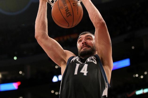 Nikola Pekovic Suffers Abdominal Strain vs. Lakers, Will Not Return
