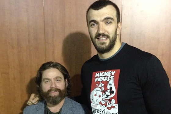 T-Wolves' Nikola Pekovic Is a Huge Zach Galifianakis Fan