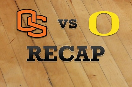 Oregon State vs. Oregon: Recap, Stats, and Box Score
