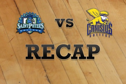 St. Peter's vs. Canisius: Recap, Stats, and Box Score