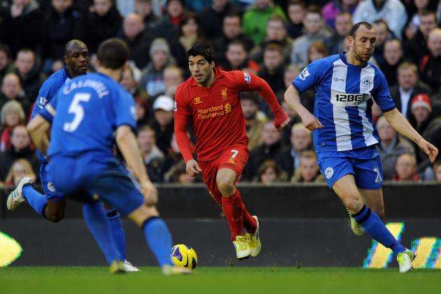 Wigan Athletic 0-4 Liverpool: Three Points for Reds, Three Goals for Suarez