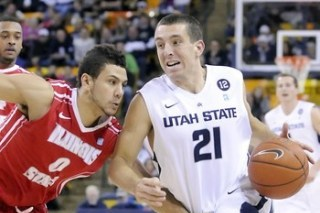 Utah State Guard Spencer Butterfield Injures Hip in Loss at Louisiana Tech