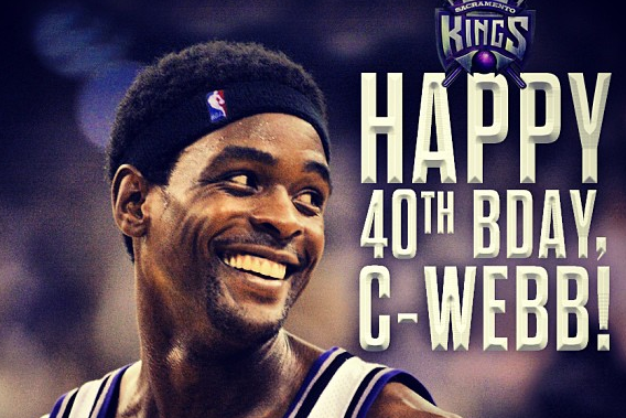 Kings Wish Chris Webber a Happy 40th Birthday