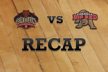 Brown vs. Cornell: Recap, Stats, and Box Score