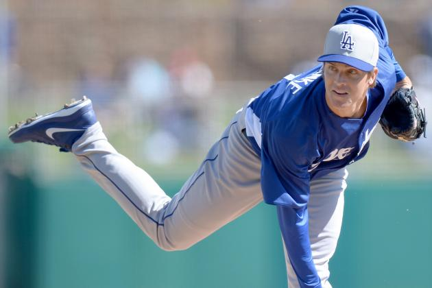 Dodgers' Greinke Hit Hard in 2nd Spring Start