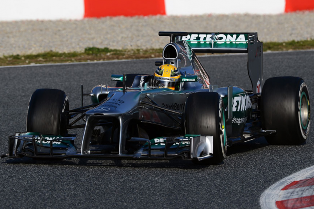 Lewis Hamilton Sets Fastest Time of the Test