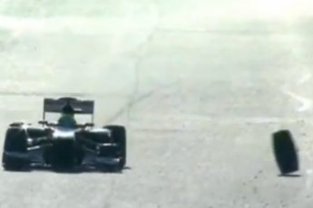 TF1T-TV: Felipe Massa Loses a Wheel During Testing