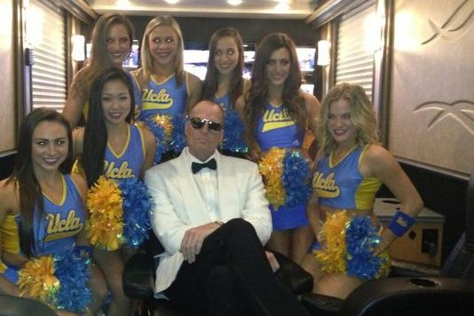 ESPN's Jay Bilas Takes Hilarious Picture with UCLA Cheerleaders