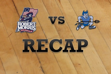 Robert Morris  vs. Central Conn. : Recap, Stats, and Box Score