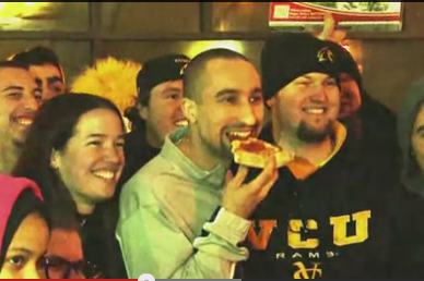 VCU Coach Shaka Smart Delivers Pizza to Camping Students (VIDEO)