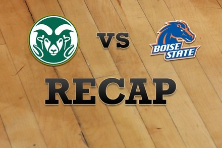 Colorado State vs. Boise State: Recap, Stats, and Box Score
